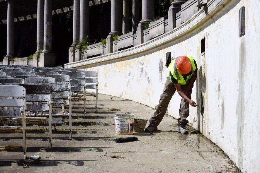 La Plata: avanza la histórica obra de restauración del Teatro del Lago