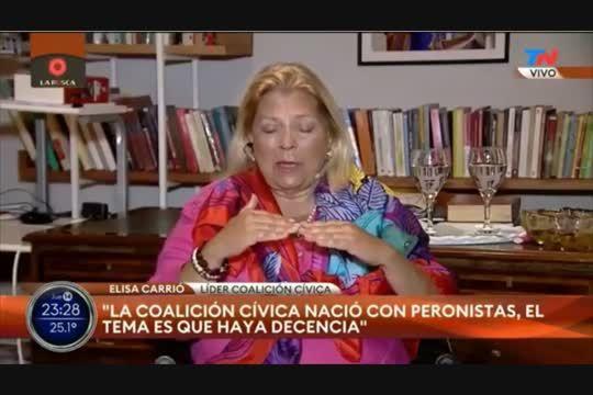 Elisa Carrió dijo que Sergio Massa, Máximo Kirchner y Cristian Ritondo trabajan juntos para estas elecciones.