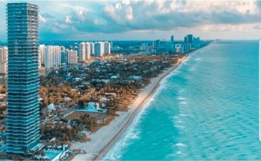 El imponente edificio Regalia en Sunny Isles, Miami, en donde los Messi compraron un departamento que es todo un piso de 511 metros cuadrados.