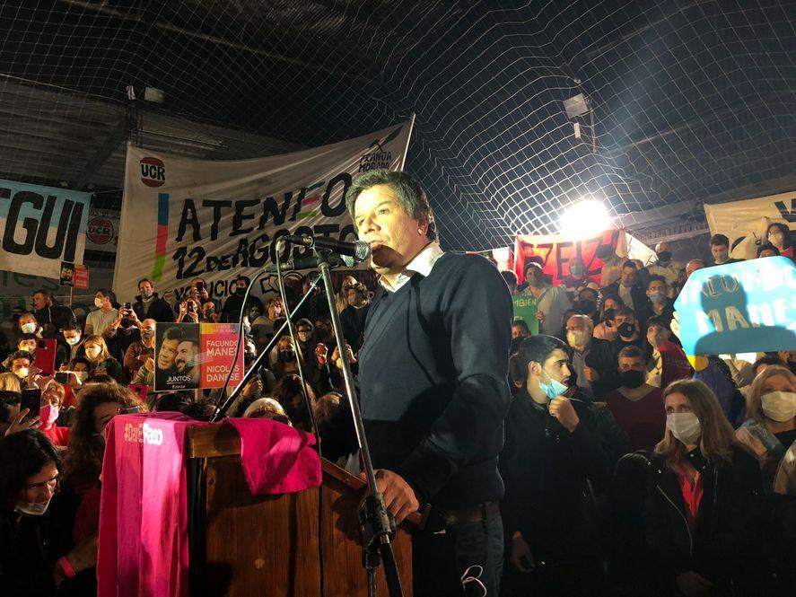 Facundo Manes cerró su campaña en Quilmes