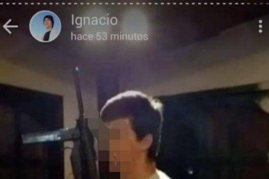 un chico de 15 anos amenazo a sus companeros de colegio por whatsapp con una metralleta