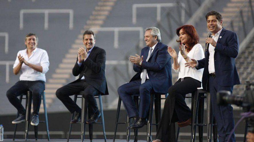 Elecciones: Alberto Fernández encabeza un acto del Frente de Todos