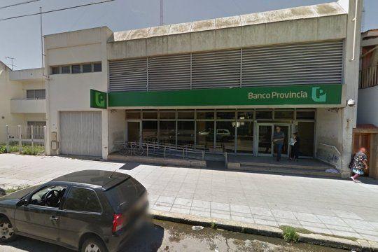 El robo fue en el Banco Provincia de la calle Rucci 2352, de Villa Diamante, Lanús