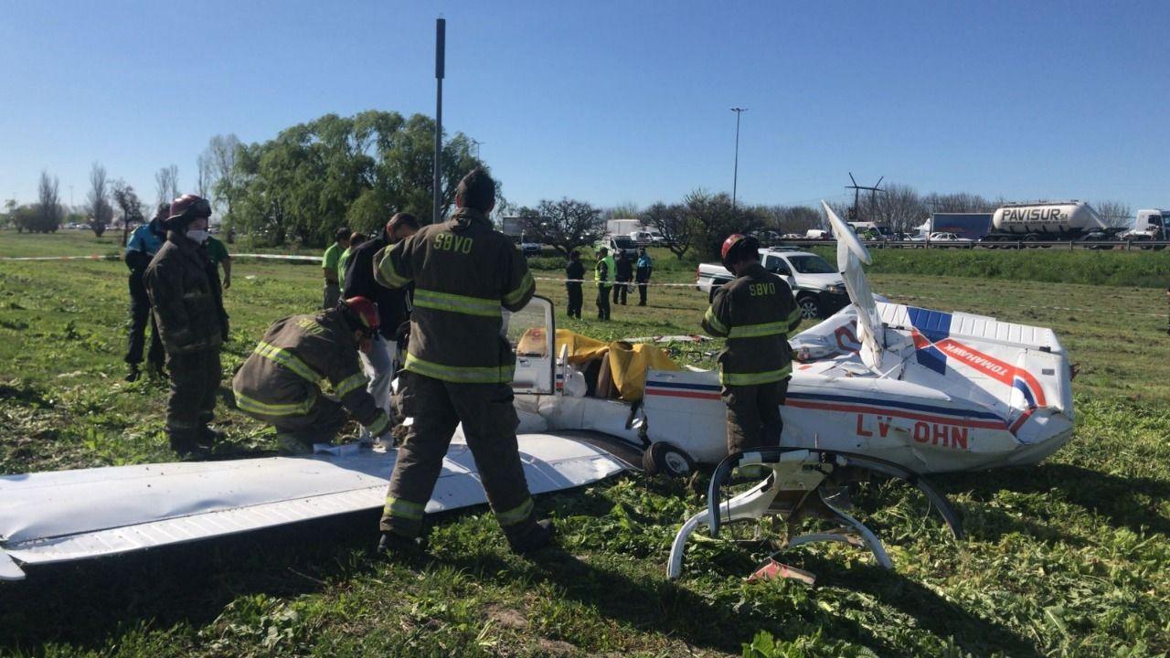 La avioneta tenía dos tripulantes.