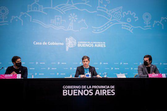 Axel Kicillof y Nicolás Kreplak en conferencia de prensa manifestaron la necesidad de que las clases presenciales mantengan los protocolos.