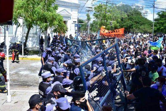 Formosa: represión tras el anuncio del regreso a fase 1 (Foto: agencia NA)