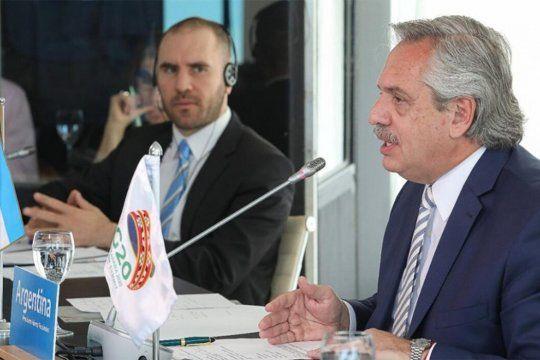 AlbertoFernández pronunció su discurso ante el G20 desde la residencia oficial deChapadmalal