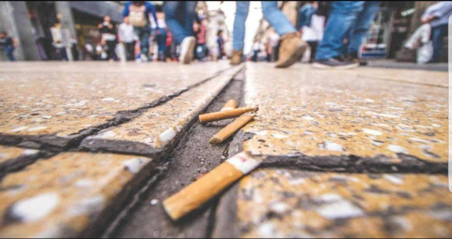 Una nueva ordenanza sanciona con multas de hasta 351 mil pesos arrojar colillas de cigarrillos en la vía pública del Partido de La Plata