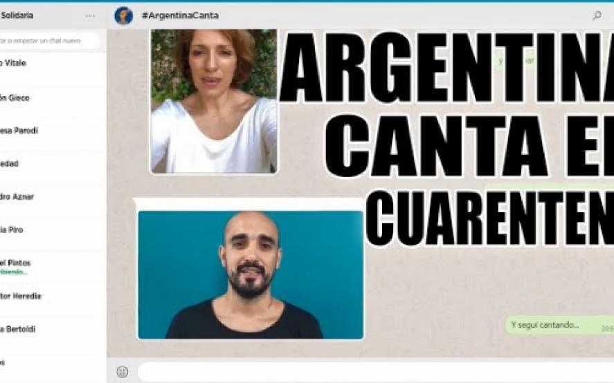 #ArgentinaCanta: mirá cómo quedó el tema interpretado por más de 30 artistas en medio de la cuarentena