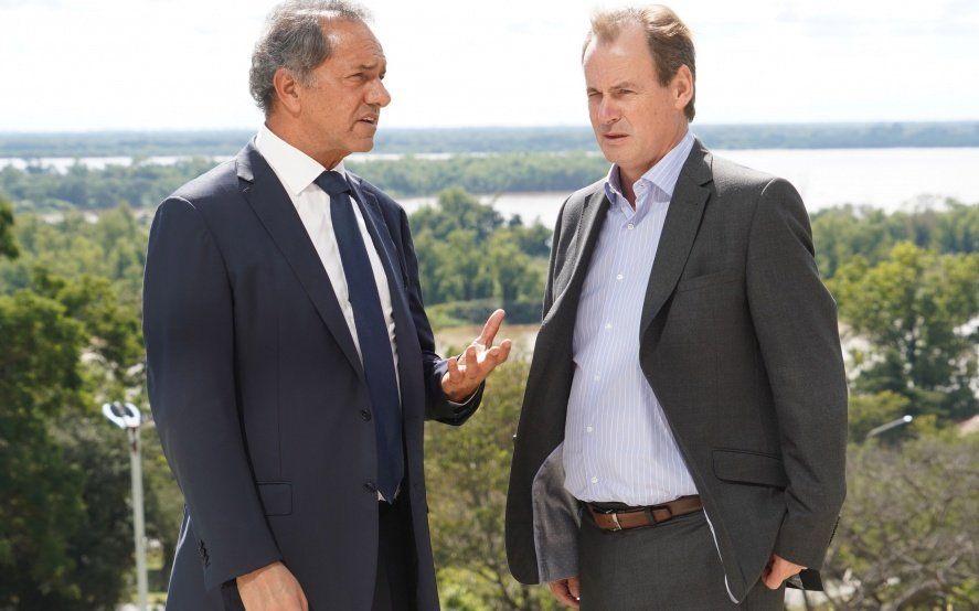Scioli se mostró con Bordet, que arrasó en las elecciones de Entre Ríos