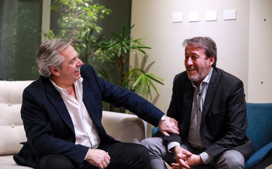 Alberto Fernández se reunió con Patricio García, el candidato del peronismo en Ameghino