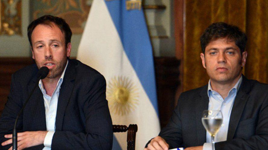Kicillof y su ministro de Hacienda