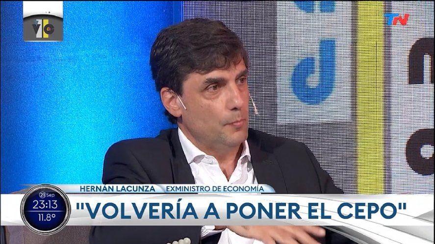 El ex Ministro de Hacienda Hernán Lacunza dijo que volvería a poner el cepo al dólar