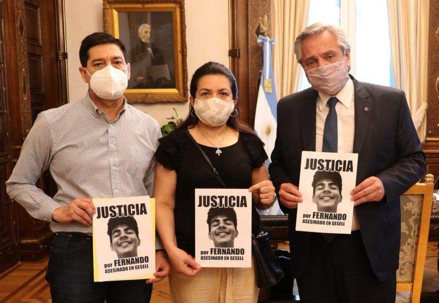 El presidente Alberto Fernández recibió en su despacho de la Casa Rosada