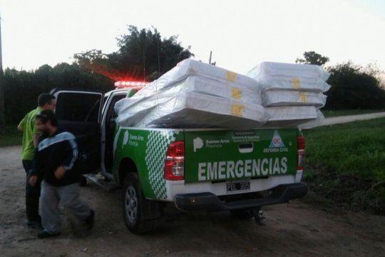 asi es el operativo que desplego la provincia para asistir a evacuados y afectados por el temporal
