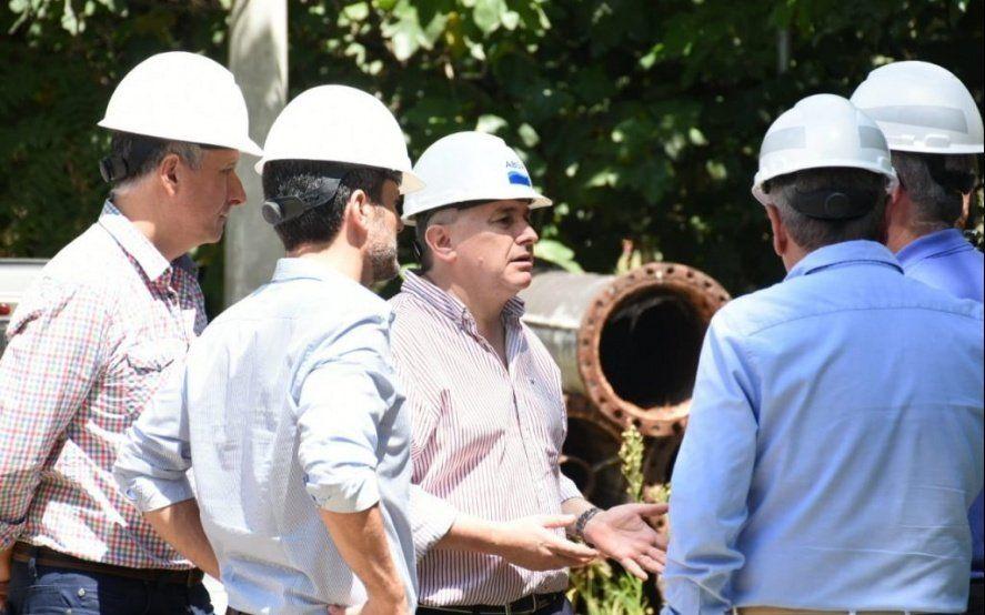 El titular de ABSA supervisó las tareas de reparación en la Usina de Bosques como primera actividad tras su desginación