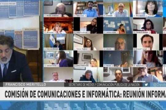 la comision de comunicaciones de diputados se entrevista con miembros del gobierno