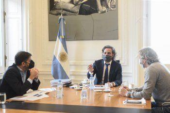 Santiago Cafiero recibió, como de costumbre, a sus pares Carlos Bianco y Felipe Miguel para analizar la situación del coronavirus en el AMBA.