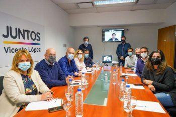 La mesa provincial de Juntos se reunió en Vicente López, donde Jorge Macri hizo de anfitrión.