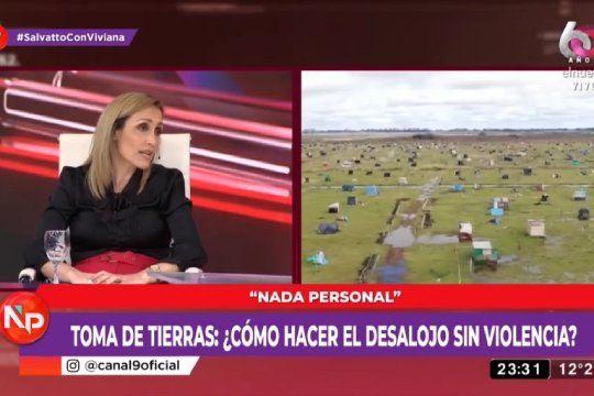 Para Florencia Arrietto, el Gobierno debe cortarle los insumos a las familias que participan de la toma de tierras