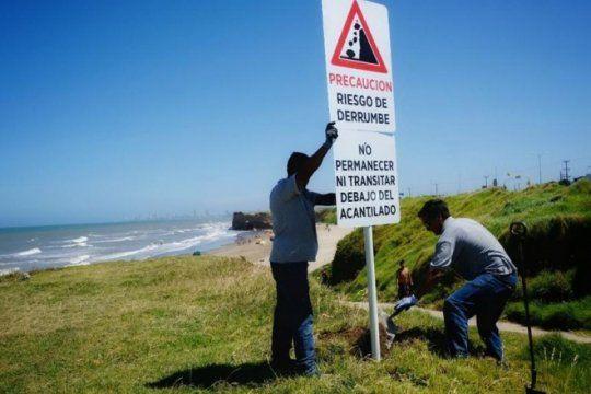 despues de la tragedia, la municipalidad de mar del plata salio a senalizar el ?peligro de derrumbe?