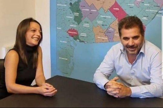 María Paz, la hija de Baby Etchecopar, junto a Cristian Ritondo, definiendo su posible candidatura para las elecciones legislativas representando a Juntos por el Cambio