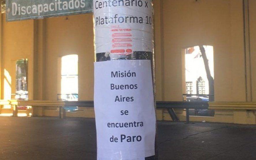 Caos en la terminal: largas colas y pasajeros demorados por un paro de Misión Buenos Aires