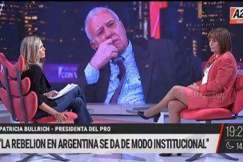 Carlos Campolongo observa con desconfianza la postura sobre el conflicto en Colombia y la interpretación de la injerencia de Venezuela que hace Patricia Bullrich, sólo porque a ella le parece que es así.