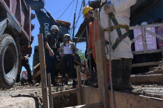 Avanzan los obras de agua y cloacas en Avellaneda