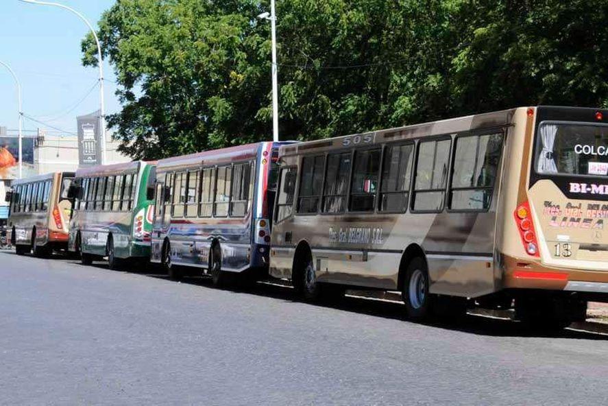 Paro de colectivos en Tandil (Foto Facebook UTA Tandil)