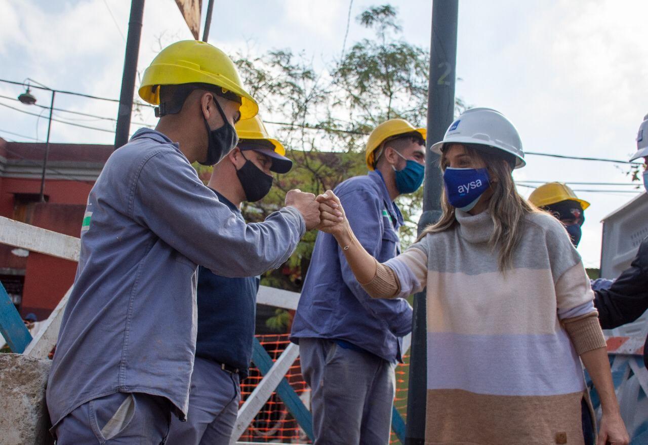 AySA y Trenes del Estado hacen obra conjunta en San Fernando