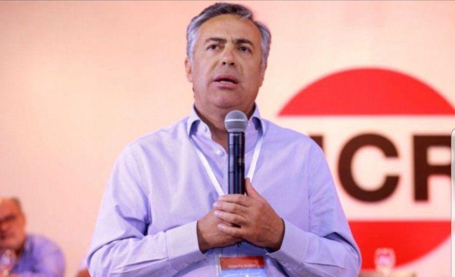 Alfredo Cornejo firmó el comunicado de la UCR contra el gobierno