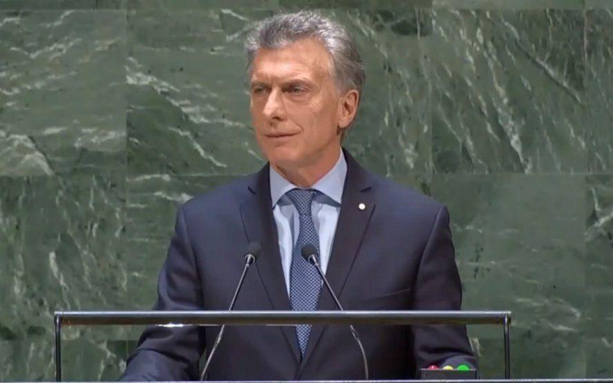 """Macri en la ONU: """"Hoy mi prioridad absoluta es ocuparme de los argentinos y llevarles alivio"""""""