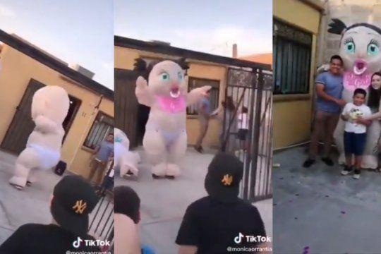 el video viral de tik tok que revela el sexo de un bebe