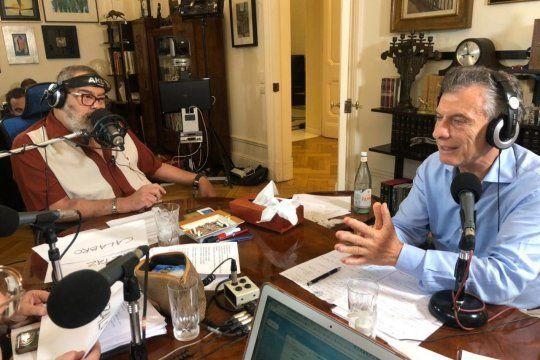Mauricio Macri estuvo con Jorge Lanata y habló de Perón