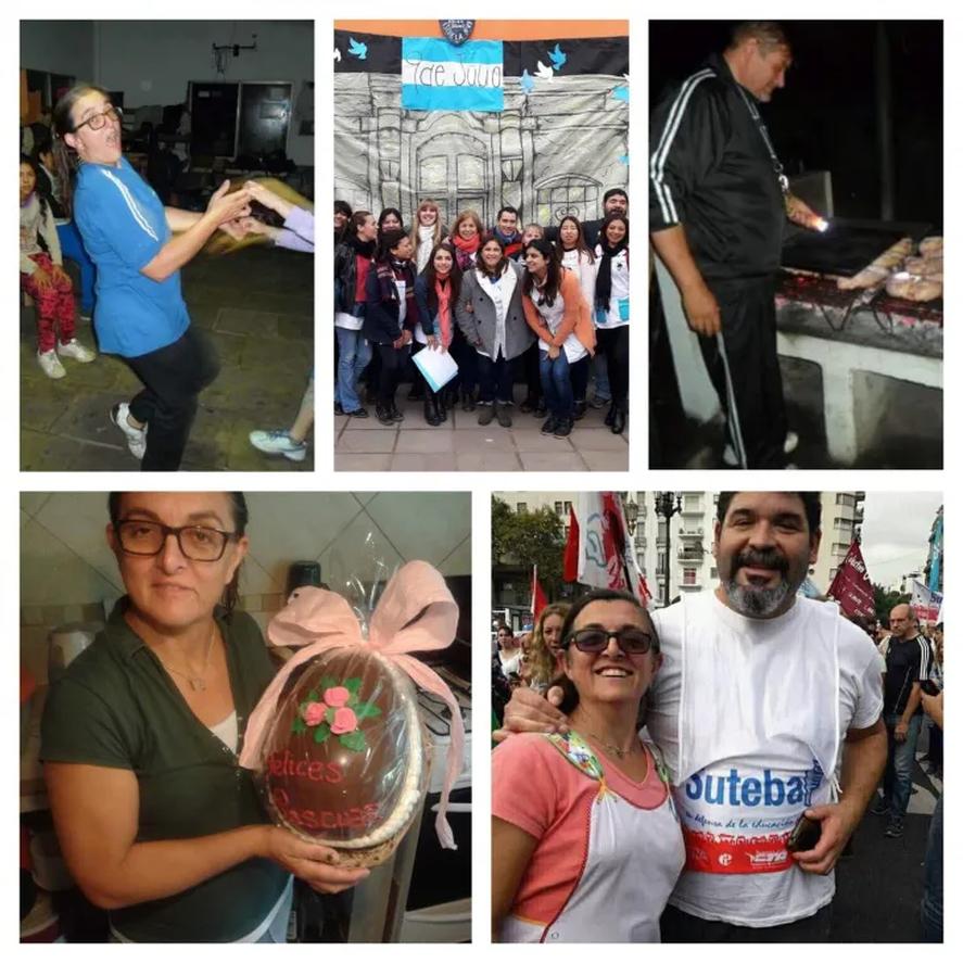 Sandra Calamano y Rubén Rodríguez en el recuerdo de la comunidad educativa de Moreno