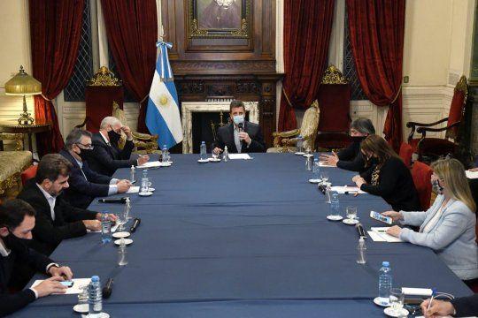Sergio Massa había convocado a una reunión con los jefes de bloque de Diputados en Labor Parlamentaria para llegar a un acuerdo.