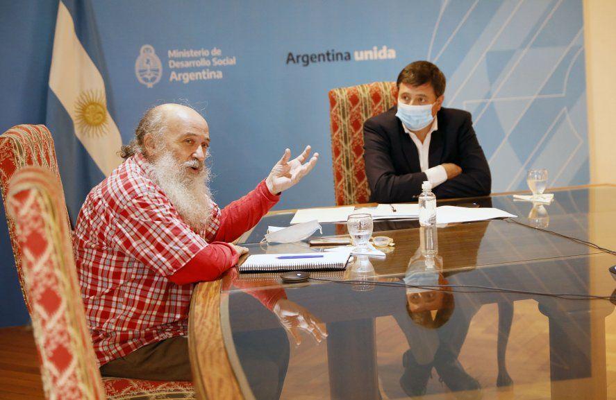 Arroyo y Pérsico presentaron el informe sobre el registro de los trabajadores de la economía popular