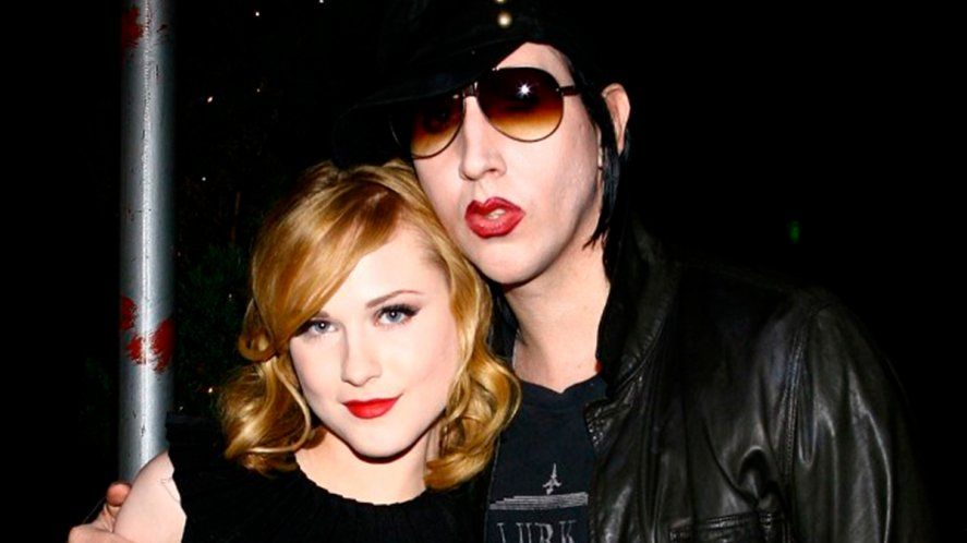El rockero Marilyn Manson y Evan Rachel Wood, la actriz que lo denunció desde sus redes sociales de abuso