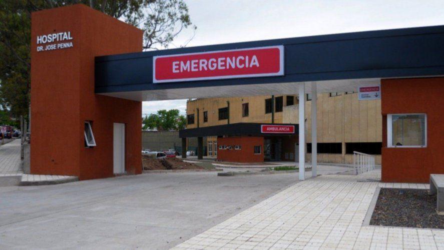 La nena fue trasladada al hospital Penna tras la descarga que sufrió al desconectar el cargador