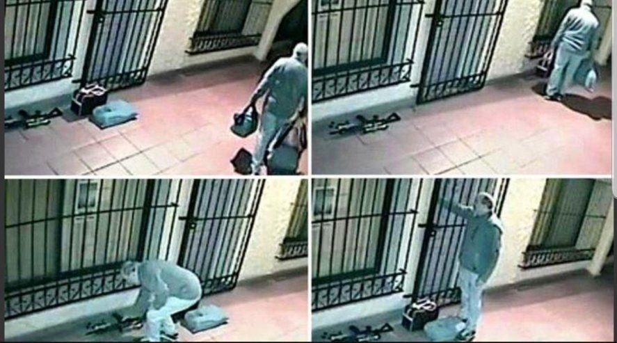 A 5 años de la detención de Jose López por estas imágenes de la puerta del Convenio de General Rodríguez con el arma