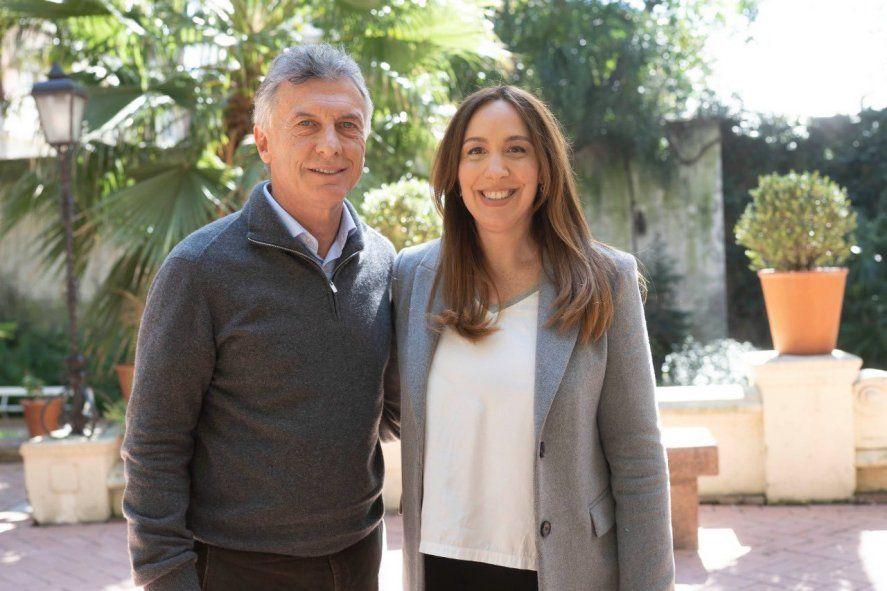 Mauricio Macri y María Eugenia Vidal se reencontraron cuando el ex presidente volvió de Europa y le mostró su apoyo para las elecciones.