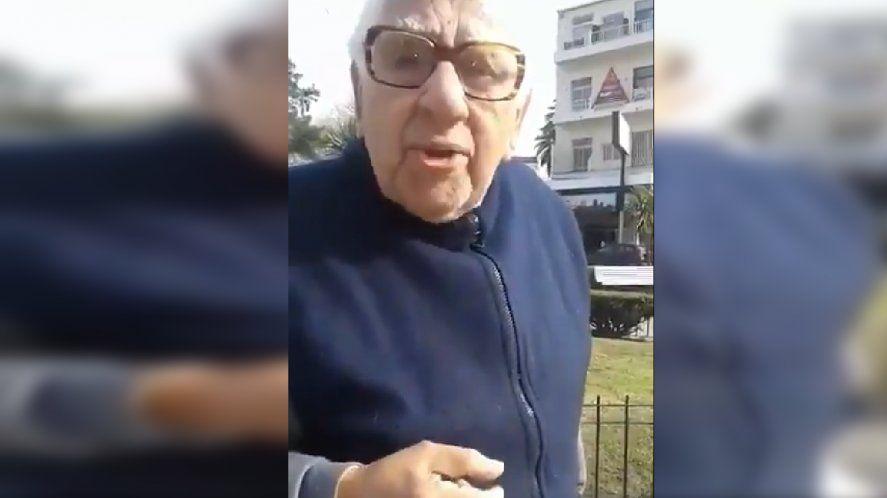 Un abuelo peronista envió un mensaje a la juventud y se hizo viral