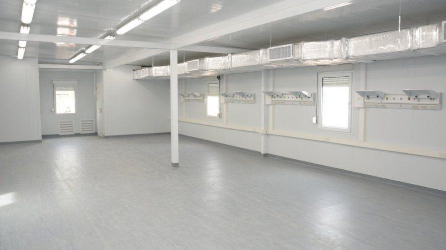 El edificio del hospital modular de Monte Hermoso fue construido