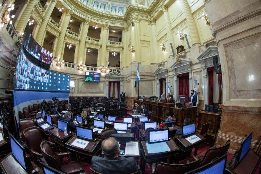 El senado de la Nación recibió el informe del jefe de Gabinete, Santiago Cafiero