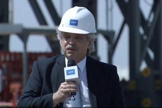 Alberto Fernández anunció un importante impulso a la producción hidrocarburífera.