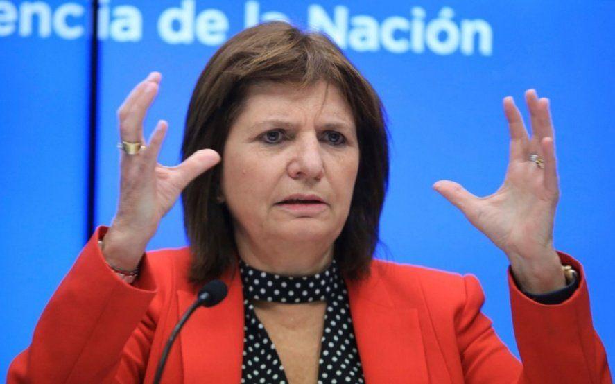 Patricia Bullrich minimizó el paro y le exigió a los gremios $23 millones por el operativo de seguridad