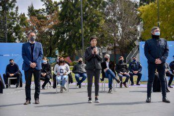Mayra Mendoza, por videoconferencia desde Quilmes, también paticipó del anuncio del plan contra la inseguridad.