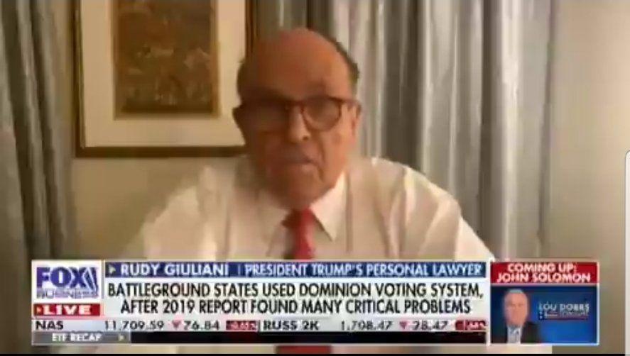 Giuliani acusó a la empresa de Venezuela Smartmatic de robarle las elecciones a Trump