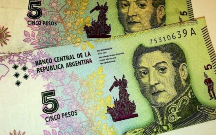 """Adiós a los billetes de $5: Enterate cuándo saldrán de circulación """"los San Martín"""""""